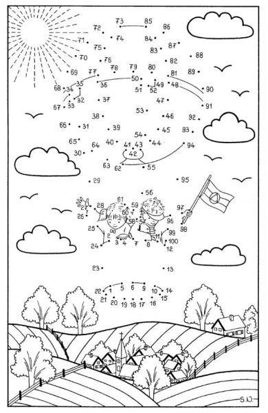 Coloriage points à relier : Qui s'envole dans le ciel ?