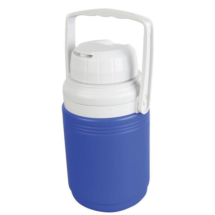 Keep enough ice-cold water to stay cool and hydrated on sweltering days with a Coleman® 1/3 Gallon Beverage Cooler. The flip open cap makes grabbing a quick drink easy while helping to prevent spills. The bail handle makes carrying easy, and the screw-top lid stays secure, so no matter where you go you'll always have a refreshing drink ready for you.