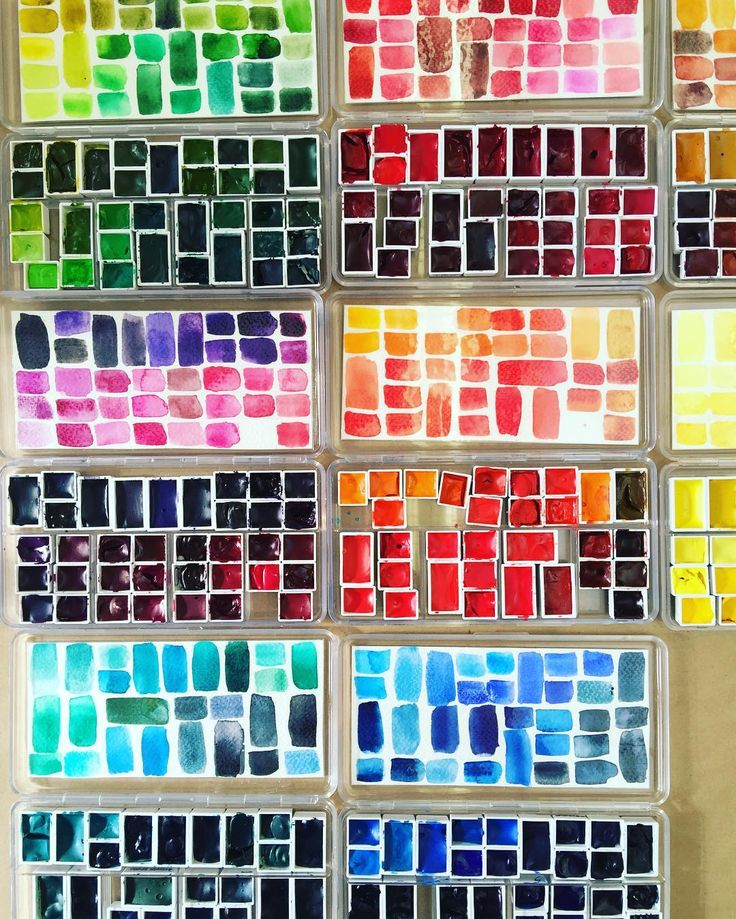 looook at this wonderful palette setup of watercolours from my class today paints watercolor. Black Bedroom Furniture Sets. Home Design Ideas