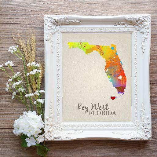 Key West Prints Key West Decor Key West Sign by PlaidChickenWing