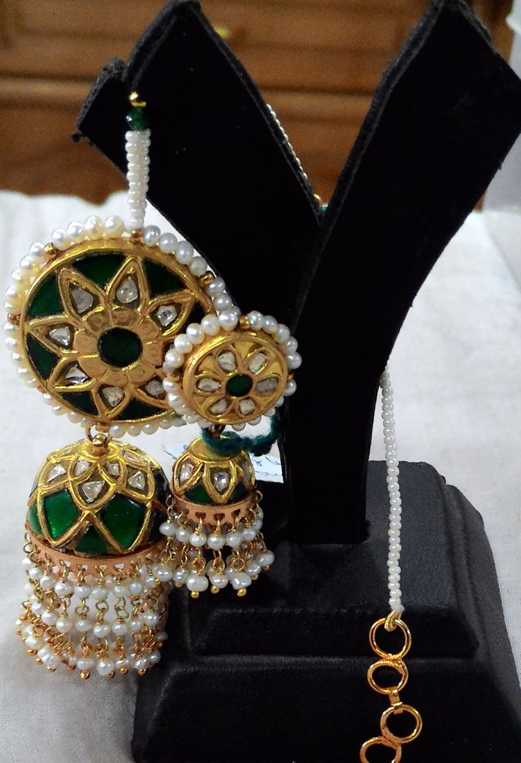 Earrings so beautiful, that you will want a pair in every color | Kundan Meena Earrings