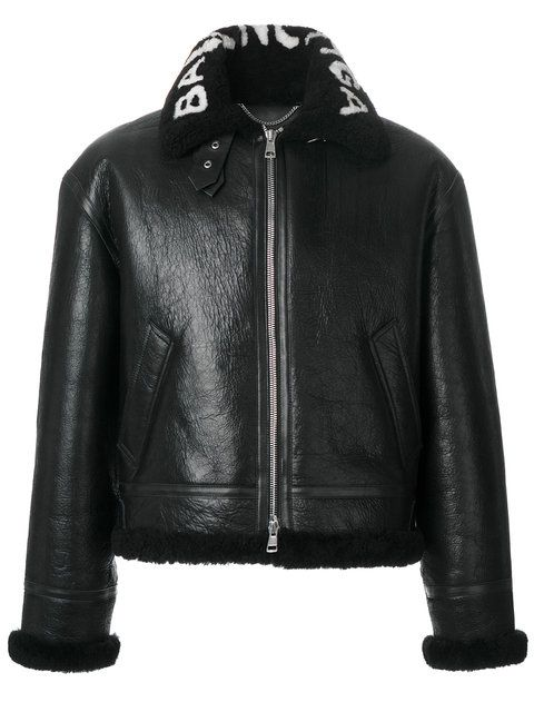 Balenciaga Veste Zippée à Col à Logo - Farfetch
