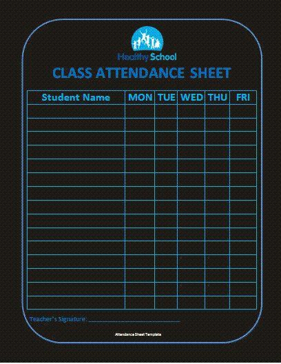 Mer enn 25 bra ideer om Attendance sheet template på Pinterest - attendance template