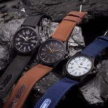 2016 nueva marca de fábrica famosa xinew hombres fecha reloj de cuarzo correa de lona militar del ejército relojes analógicos deportes reloj de pulsera