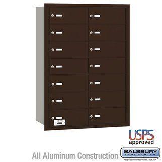 4B+ Horizontal Mailbox - 14 B Doors - Bronze - Rear Loading - USPS Access by Salsbury Industries. $693.00. 4B+ Horizontal Mailbox - 14 B Doors - Bronze - Rear Loading - USPS Access - Salsbury Industries - 820996417688. Save 10%!