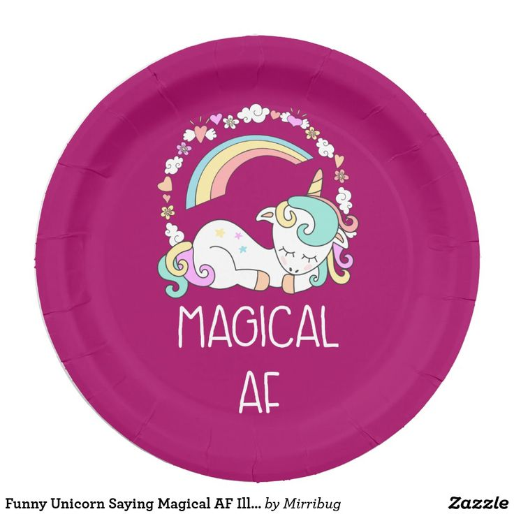 Funny Unicorn Saying Magical AF Illustration