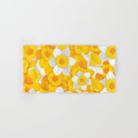 #flowers #spring #yellow #towels Available in different #giftideas products. Check more at society6.com/julianarw