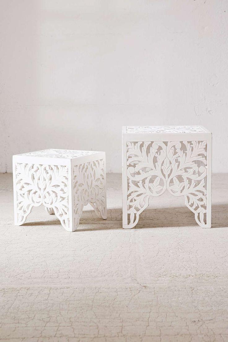 Sienna Carved Side Table Set