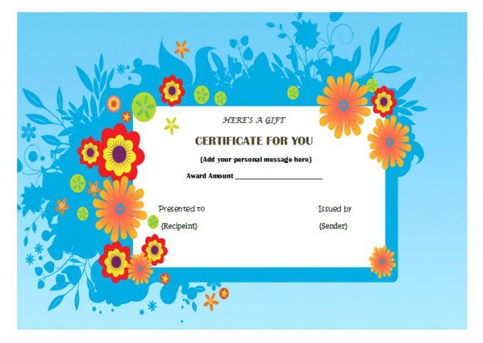 Manicure Pedicure Gift Certificate Template Certificates And