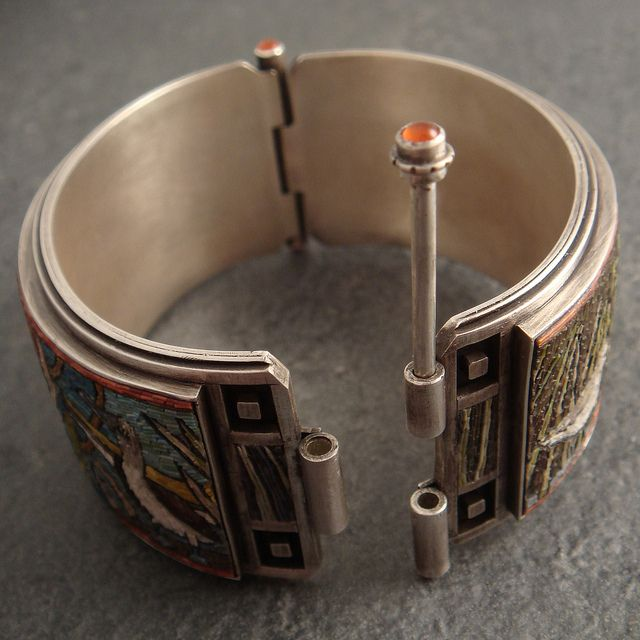 micromosaic bangle-- clasp | Flickr - Photo Sharing!