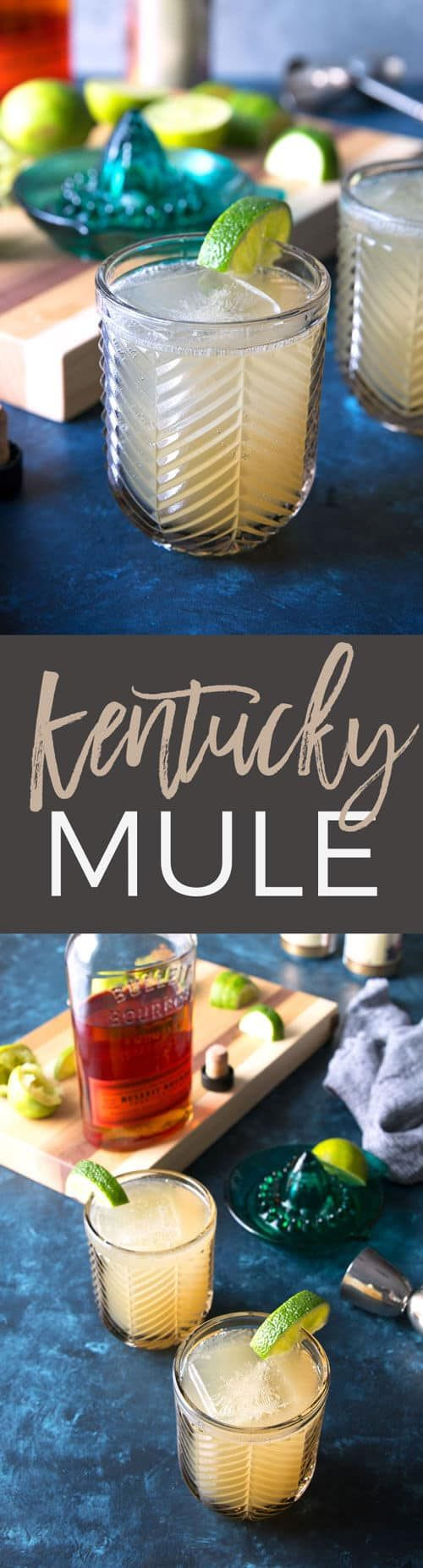 This Kentucky Mule is a delicious twist on a traditional Moscow Mule cocktail. Kentucky bourbon, ginger beer and fresh squeezed lime juice make this an easy 3-ingredient cocktail, perfect for any party and any season. #bourbon #cocktail #drink #recipe #summer #kentuckyderby