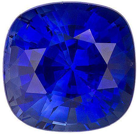 Blue Sapphire Loose Gemstone, Cushion Cut, 6.2 x 6.1 mm, 1.47 Carats at BitCoin Gems