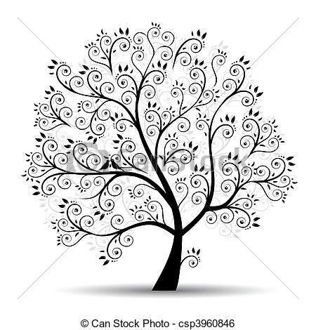 Vecteur - art, arbre, beau, noir, silhouette - Banque d'illustrations, illustrations libres de droits, banque de clip art, icônes clipart, logo, image EPS, images, graphique, graphiques, dessin, dessins, image vectorielle, oeuvre d'art, art vecteur EPS