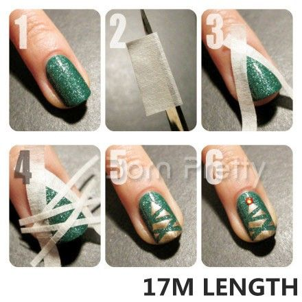 $3.99 Fancy 17m White Stripe Tape Roll Nail Art Edge Guide Tips Stickers 0.5m / 1.2cm Width - BornPrettyStore.com