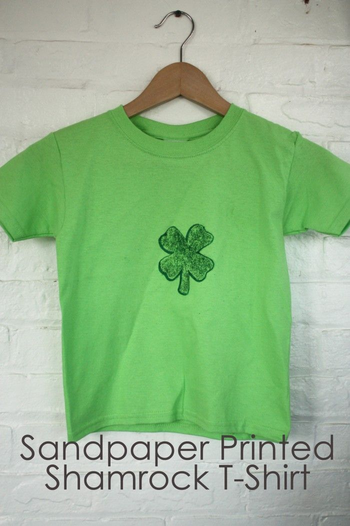 Sandpaper Shamrock T Shirt via @sheenatatum:  T-Shirt, Sheenatatum