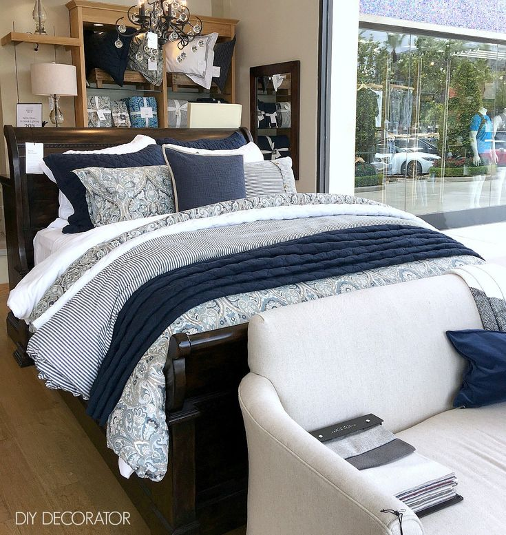 Pottery Barn Bed Styling
