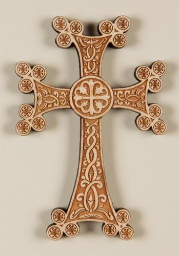 Armenian Laser-engraved Wall Cross.