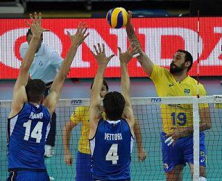 Blog Esportivo do Suíço:  Brasil vence a Itália e conquista a segunda vitória pela Liga Mundial