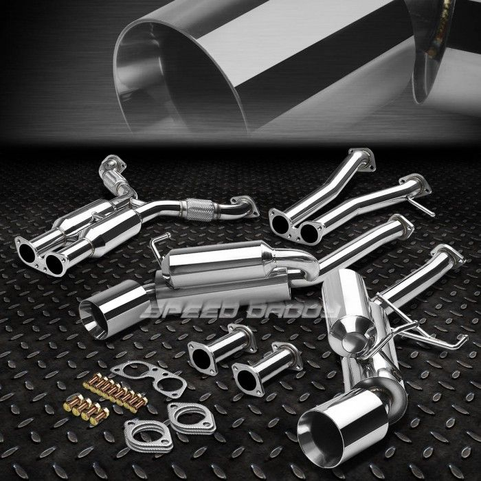 "DUAL 4.5"" ROLLED TIP HI-POWER RACING CATBACK EXHAUST SYSTEM FOR 350Z Z33/G35 V35CBE-350Z-G35-D-T2"