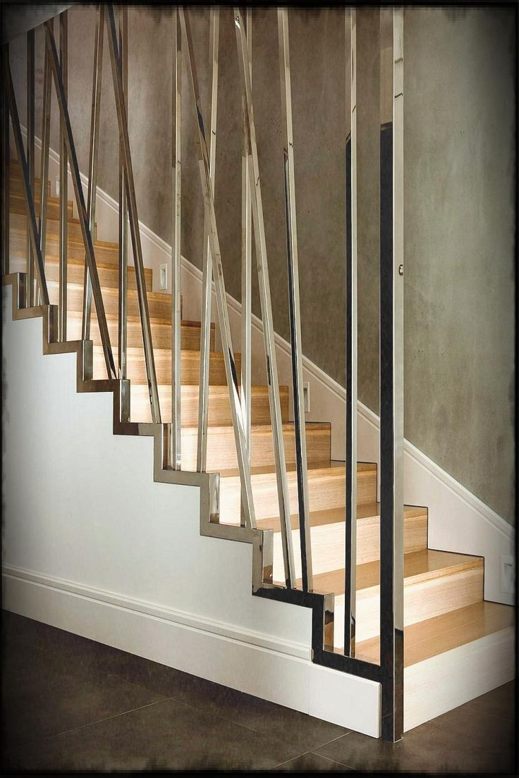 Lovely Modern Stair Railings Design Come With Contemporary Metal Fence And Dark Brown Concrete Floor
