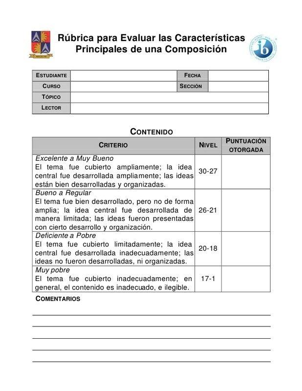 articuloseducativos.es: Rúbrica para trabajos escritos