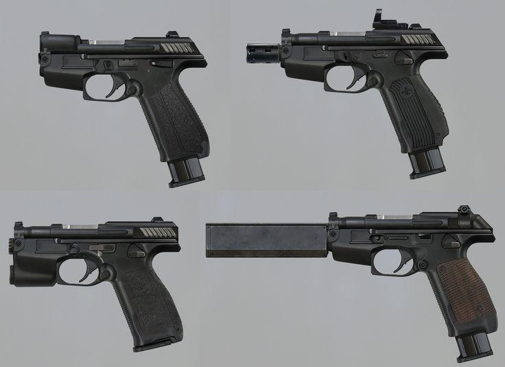 Gun concept, Pavel Proskurin on ArtStation at https://www.artstation.com/artwork/YRl9q