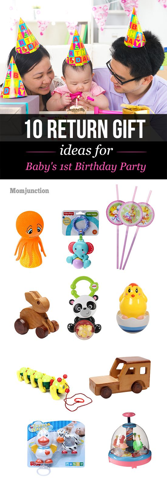 10 Awesome Return Gift Ideas For Your Baby's 1st Birthday Party