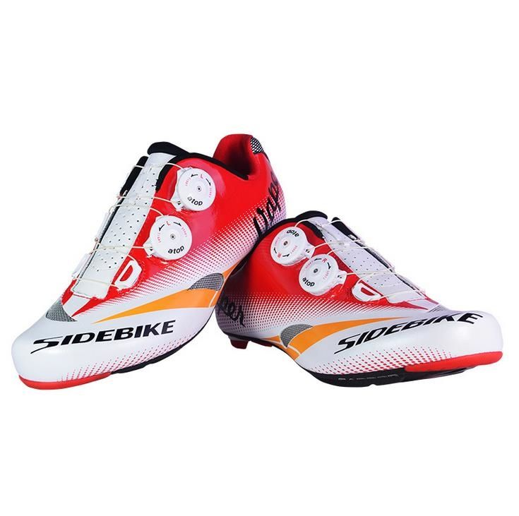 109.20$  Buy now - http://alih25.worldwells.pw/go.php?t=32611632625 - SIDEBIKE New Professional Cycling Shoes Road Bike Bicycle Shoes Ultralight Carbon Fiber Bike Shoes Sapatos de ciclismo 109.20$