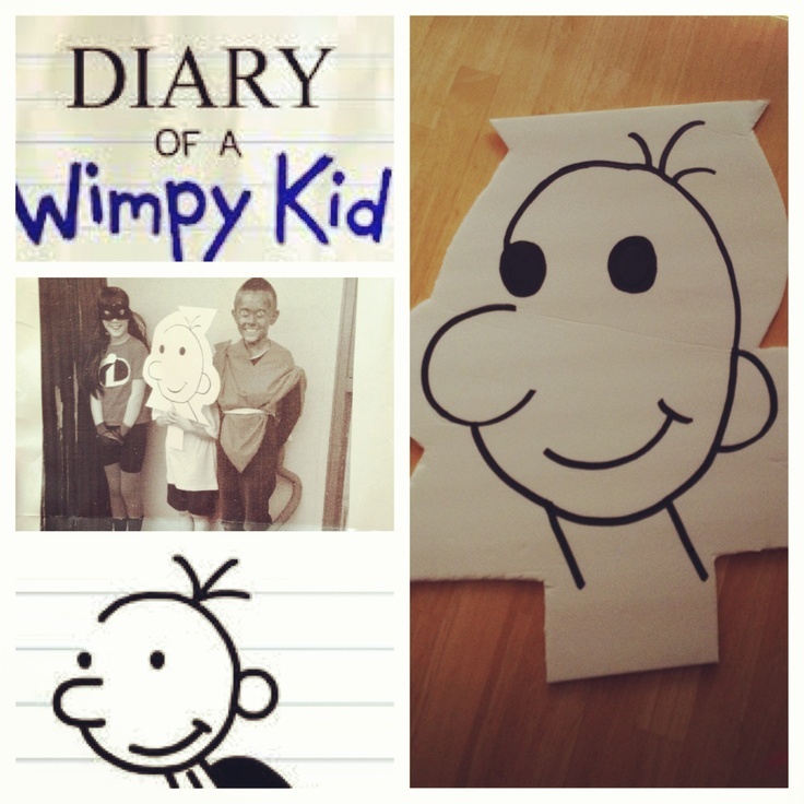 33 best book character dress up images on pinterest for Diary of a wimpy kid crafts