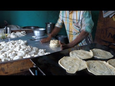 Kerala style paratha - Parotta - Indian flat bread - authentic Indian video recipe filmed in a village and street restaurant in India (source: my personnal food and travel blog / vlog with recipes, authentic video recipes, street food, food and travel documentary, travel info and more. Welcome! :) )