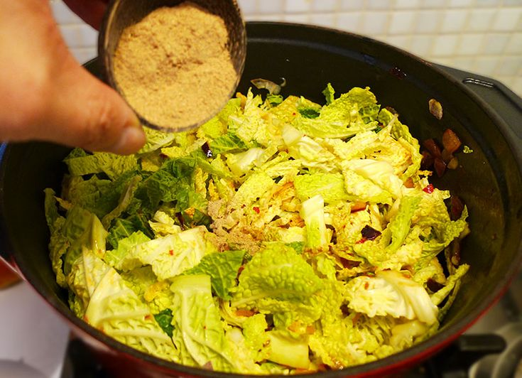 If I have some leftover cabbage I always make this lovely sayur tumis with cabbage and sambal trassi and galangal. Enak!
