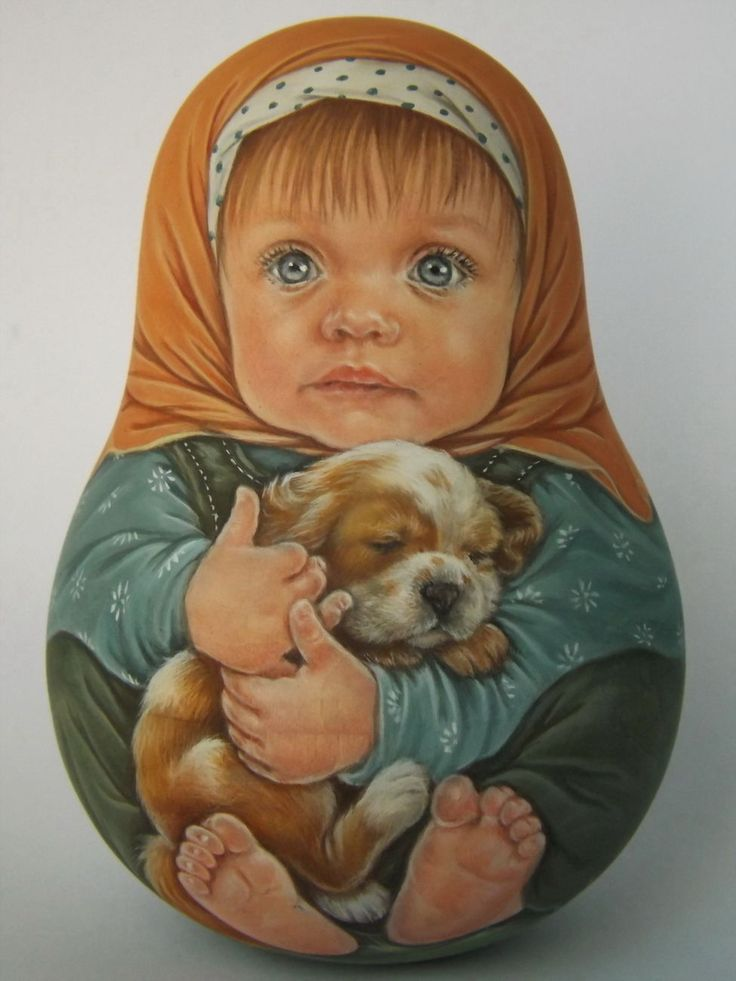 Author's 1 Kind Russian Roly Poly Nesting Like Reborn Baby Dolls Artist Usachova | eBay