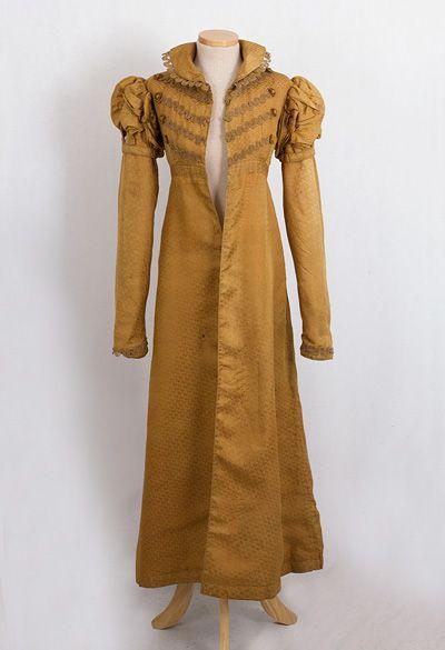 Silk damask pelisse, c.1815-20