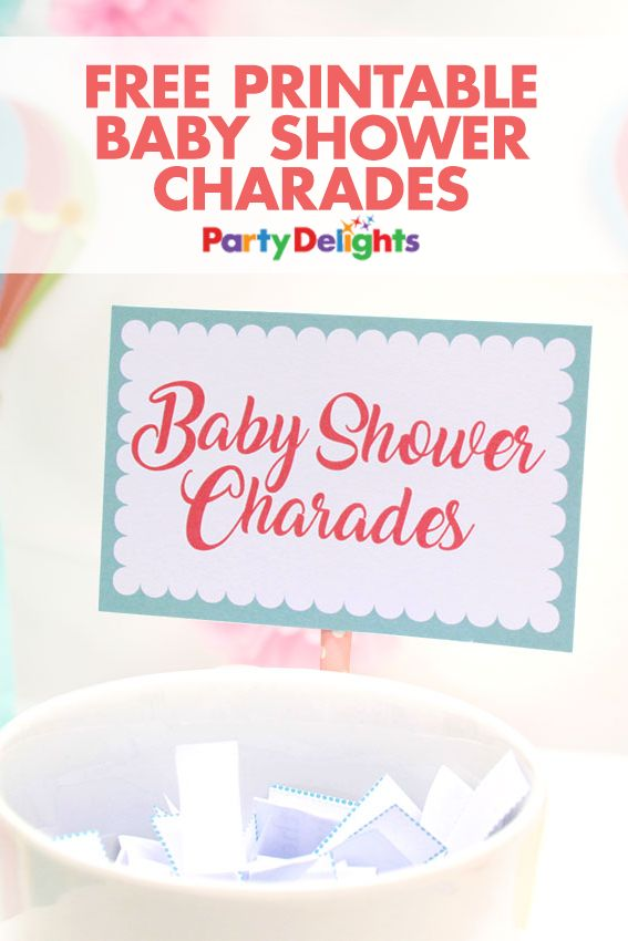 Looking for a fun baby shower game? Have a go at our free printable baby shower charades game - a fun baby shower activity that will bring lots of laughs and keep everyone entertained! Find the printables and even more baby shower ideas on our blog.