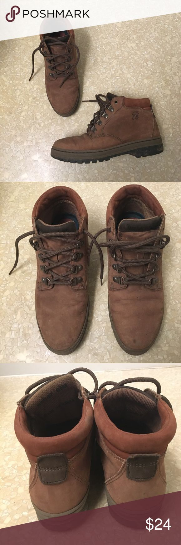 Vintage Timberland hiking boots Rugged hiking boots from Timberland. Not a ton of support, so would wear more for fashion or short hikes. Perfect for that outdoorsy look Timberland Shoes Ankle Boots & Booties