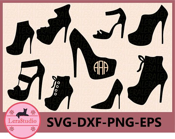 60 Off High Heels Svg Woman Shoes Svg Dxf Ai Eps Png Etsy In 2020 Svg Silhouette Photos Dxf