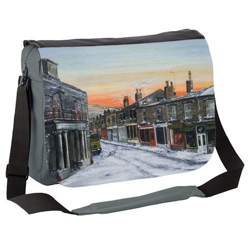 Half Day Closing Messenger Bag by davidcoldwellart at zippi.co.uk