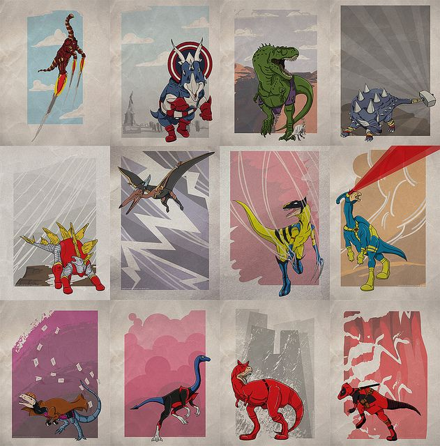 Superhero Dinosaurs! Too cool!