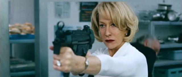Hellen Mirren looking bad-ass   Do you need any more incentive than Helen Mirren with a machine gun ...