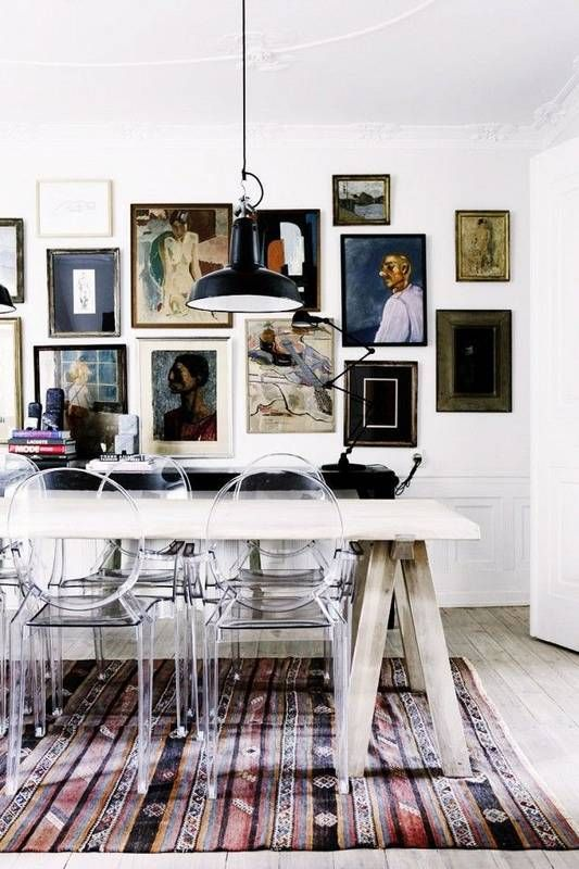 18 Decorating Ideas to Make Your Small Dining Room Look Bigger: Lucite furniture