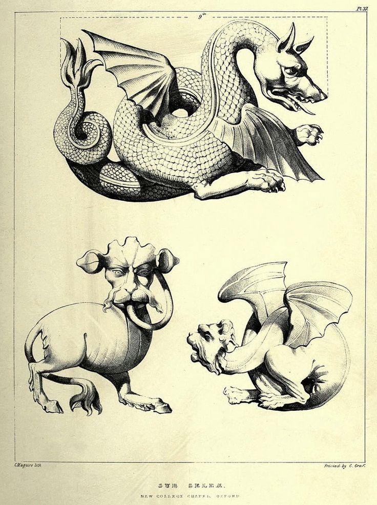 025- Ornamentos-Capilla del nuevo colegio de Oxford-Gothic ornaments…1854- Augustus Pugin