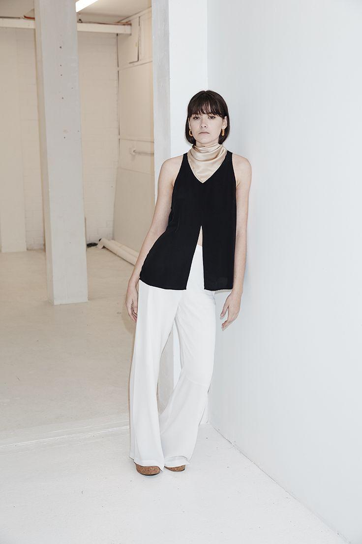THIRD FORM SPRING 16 'BROKEN WAYS TANK'  #thirdform #tank #fashion #streetstyle #style #minimal #trend #black #minimalfashion