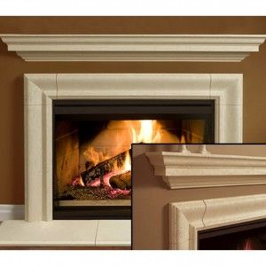 Interior: Fireplace Wood Holder With Fireplace Surround Kits