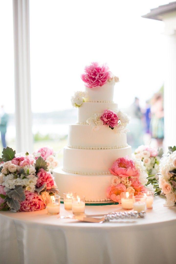 Waterfront Massachusetts Wedding from Melissa Robotti - wedding cake