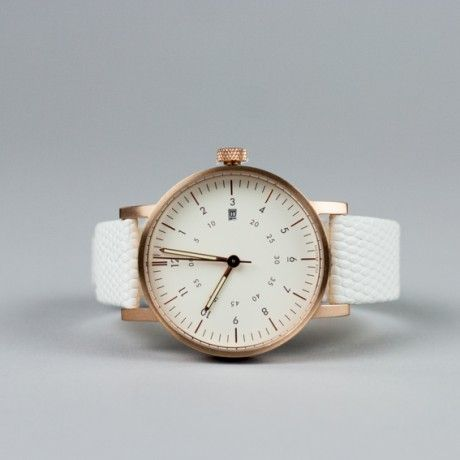 VOID analogue watch white leather strap