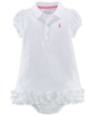 Ralph Lauren Baby Girls' Ruffle Polo Dress