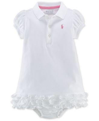 Ralph Lauren Baby Girls' Ruffle Polo Dress