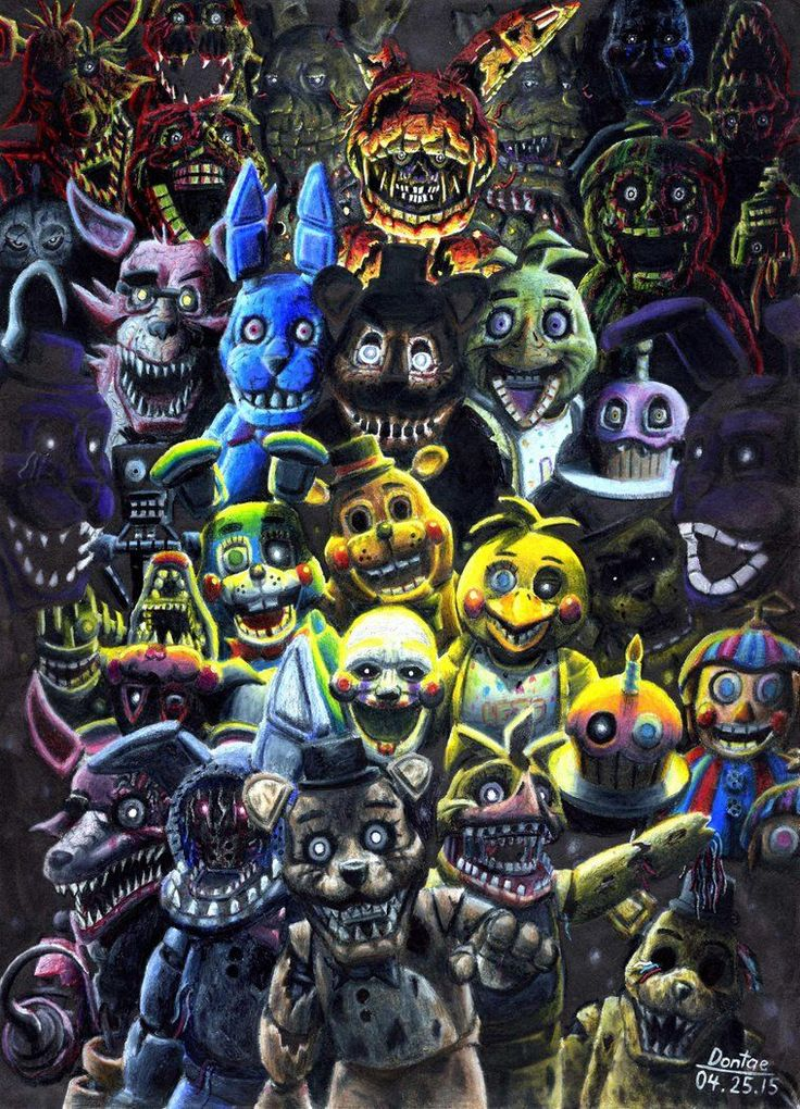 Five Nights At Freddy S Bedroom Decor: All Five Nights At Freddy's Characters