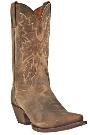 Dan Post Women's Cecilia Bay Apache Distressed Cowgirl Boots Slant is a little too high and toe a little too pointy but like the distress