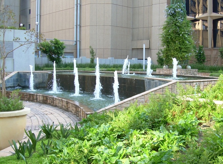 Water feature design at Sappi, South Africa, by Insite landscape architects.